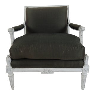 Mid-Century Maison Jansen Louise XVI Style Armchair For Sale