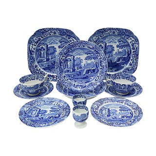 Vintage Spode Italian Breakfast for Two - 12 Pieces For Sale