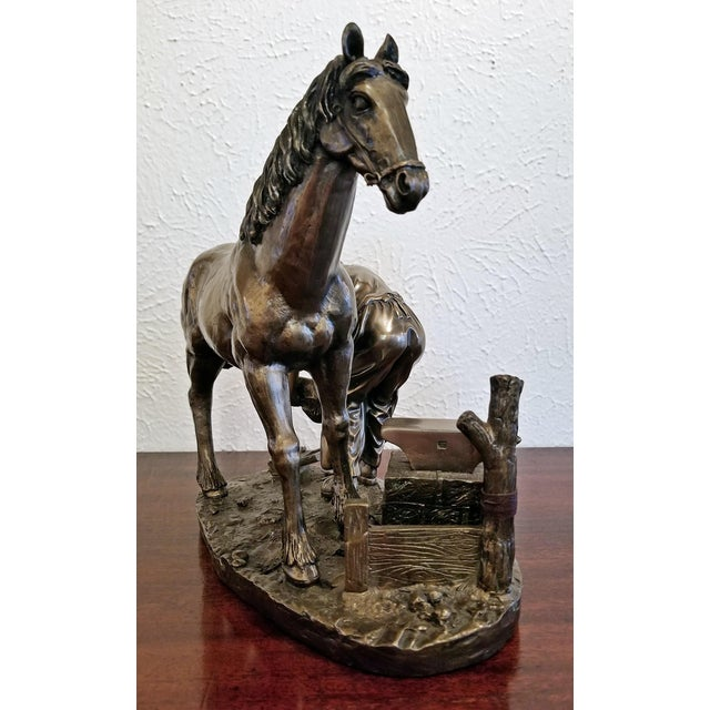 """Metal Irish """"Horse and Farrier"""" Sculpture by Genesis For Sale - Image 7 of 10"""
