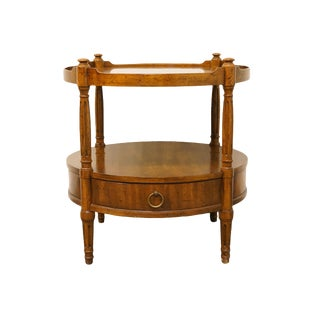 Late 20th Century Vintage Heritage Walnut Italian Neoclassical Style Side Table For Sale
