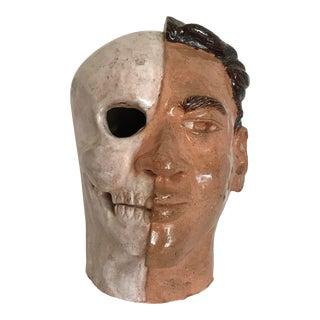 1960's Portrait Studio Sculpture Half Skull, Half Man For Sale