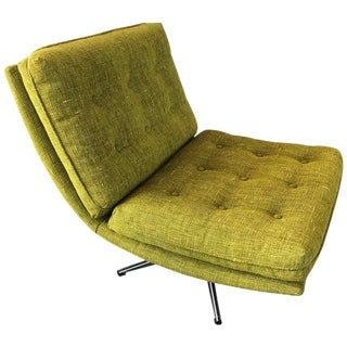 Citrus Colored Upholstered Lounge Chair For Sale