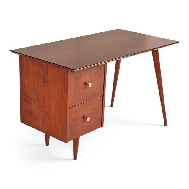 1950s Vintage Paul McCobb Planner Group for Winchedon Mahogany Desk For Sale - Image 5 of 7