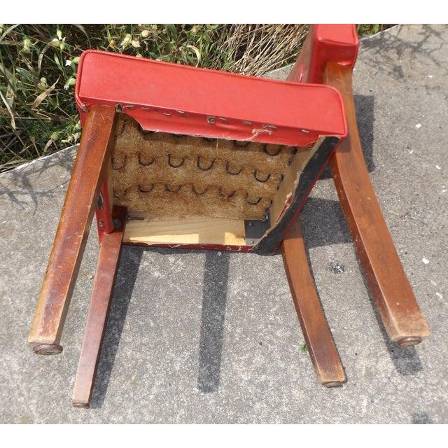 Retro Mid-Century Vinyl Accent Chairs - A Pair - Image 10 of 11
