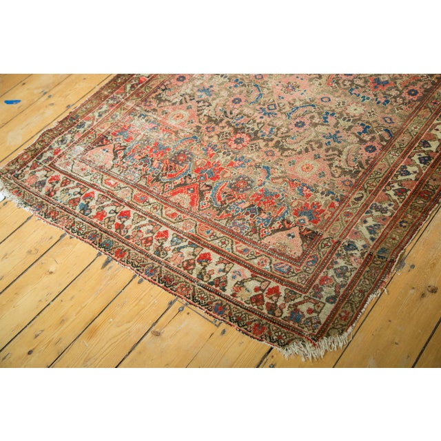 "Antique Hamadan Rug Runner - 4' X 8'10"" - Image 3 of 10"