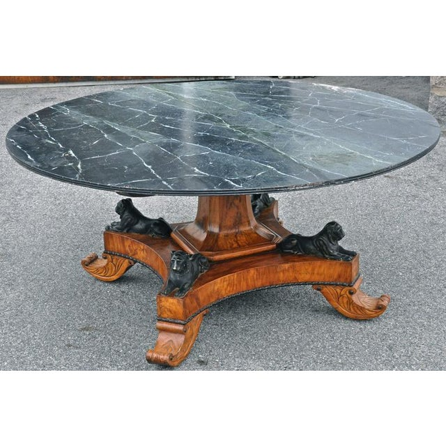 Early 19th Century Baltic Neoclassical Walnut Dining Table, Style of Thomas Hope For Sale - Image 4 of 5