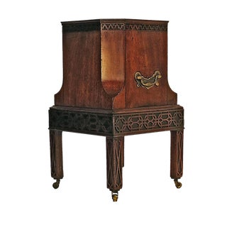 1780s Rare English Chippendale Mahogany Georgian Wine Cooler
