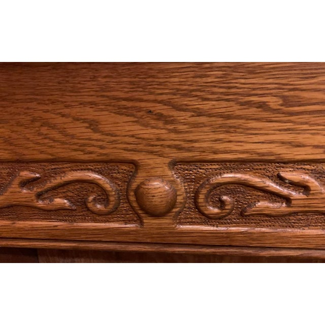 1910s Victorian Oak Fireplace Mantel For Sale - Image 9 of 10