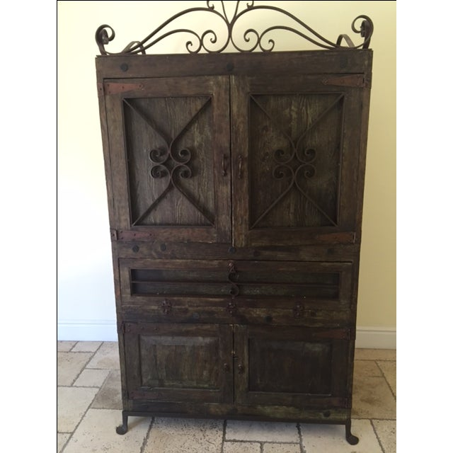 Vintage Spanish-Style Armoire - Image 2 of 4