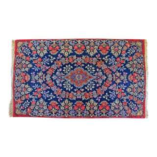 Early 20th Century Antique Kirman Rug- 3′ × 5′