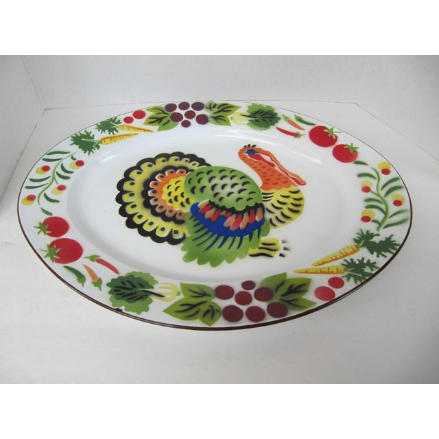 Vintage Enamelware Turkey Platter For Sale - Image 6 of 6