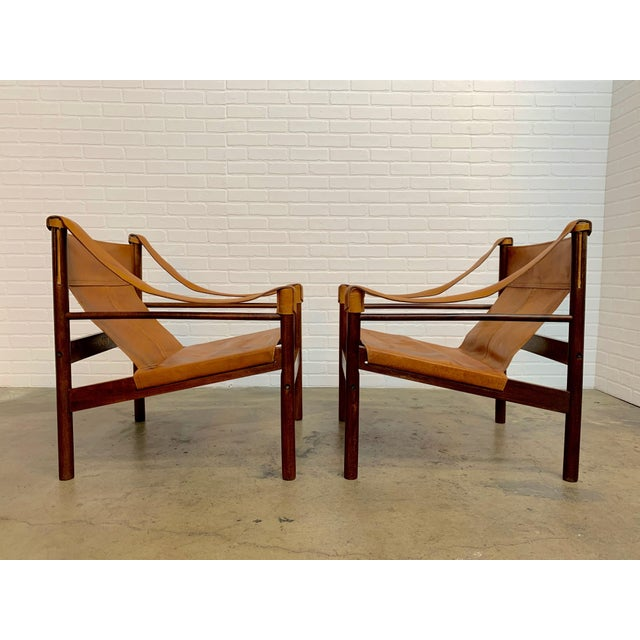 1960s Abel Gonzalez Safari Sling Lounge Chairs - a Pair For Sale - Image 5 of 13