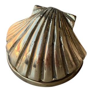 1970s Brass Sea Shell Clip For Sale