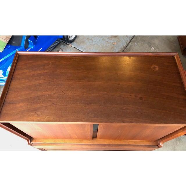 Brown Mid-Century Modern 6-Drawer Dillingham Highboy Dresser by Merton Gershun For Sale - Image 8 of 10