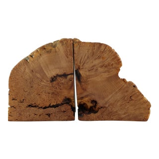 Burled Maple Bookends - a Pair