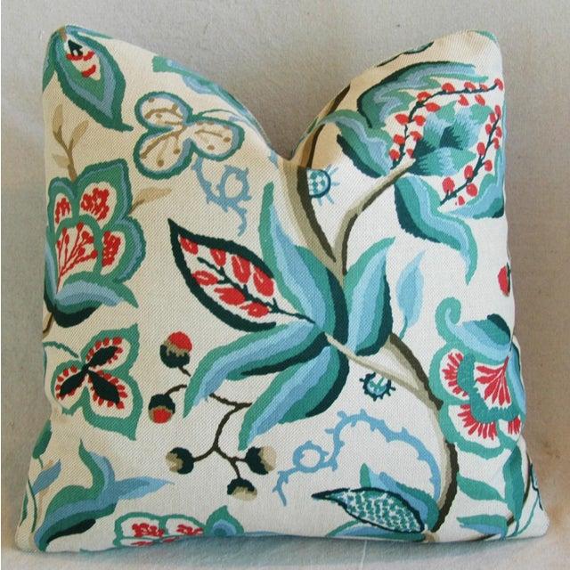 Schumacher Alexandra Floral Velvet Pillows - a Pair - Image 4 of 10