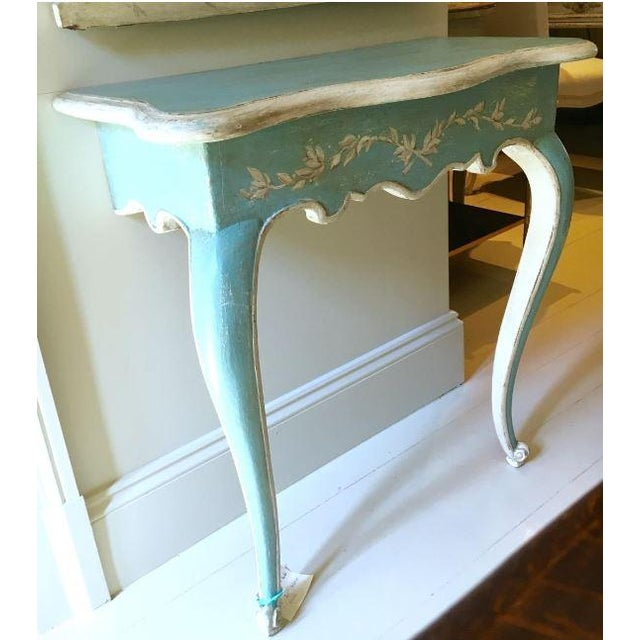 Louis XV 19th C. Louis XV Painted Console For Sale - Image 3 of 3