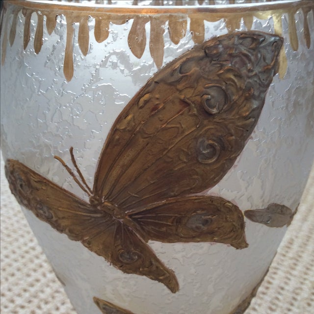 Legras Butterfly & Dragonfly Glass Vase - Image 5 of 6