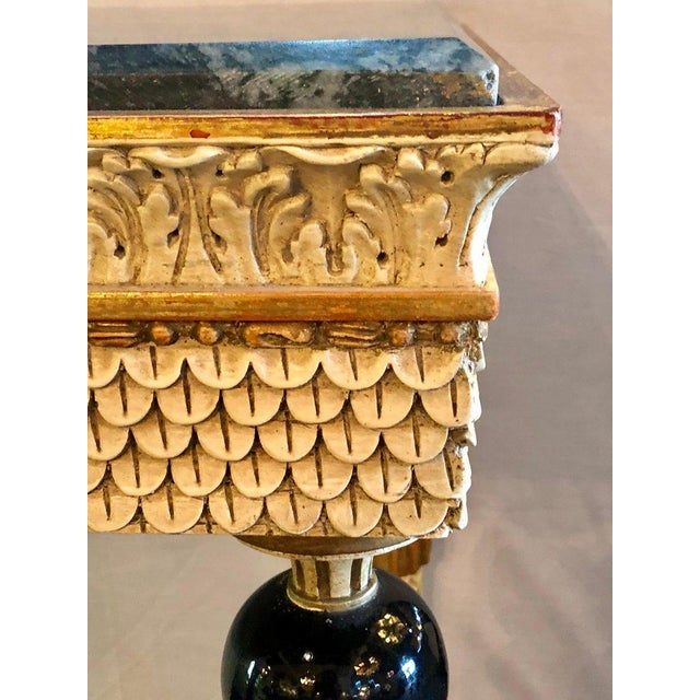 Pair of Neoclassical Style Marble Top Consoles Attributed to Maison Jansen For Sale In New York - Image 6 of 13