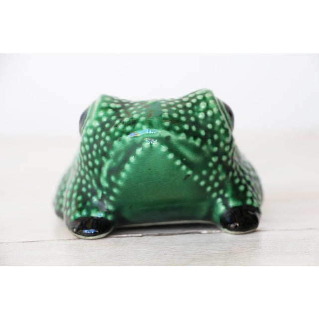 Chinese Vintage Hobnail Frog Planter in the Style of Jean Roger For Sale - Image 4 of 13