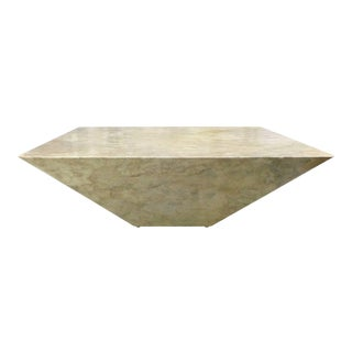 Geometric Faux Marble Coffee Table For Sale