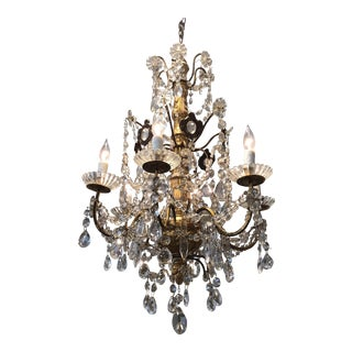 Italian Crystal Chandelier For Sale