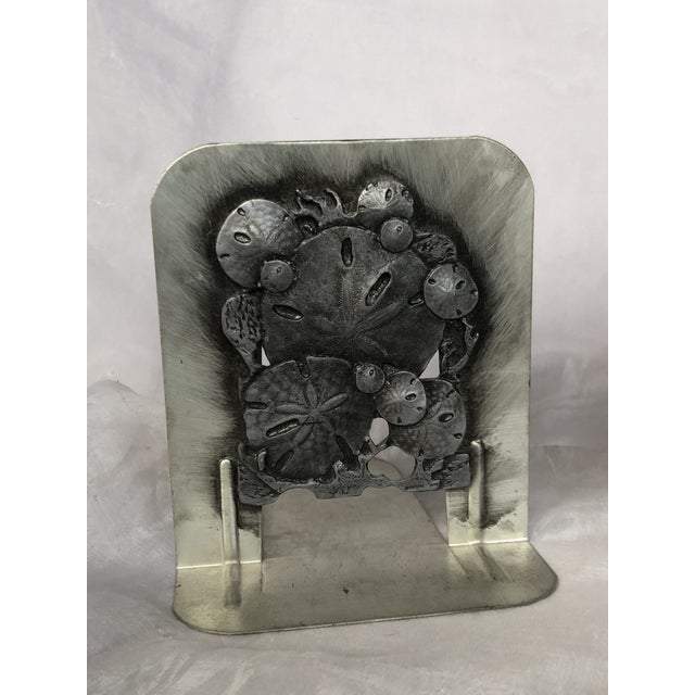Vintage 1970s Metal Sand Dollar Bookends - a Pair For Sale - Image 9 of 11