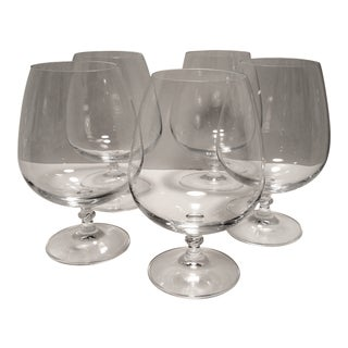 Vintage Classic Crystal Brandy Glasses - Set of 5 For Sale