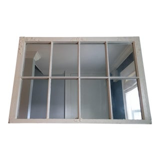 20th Century Shabby Chic Mirrored Window Frame For Sale