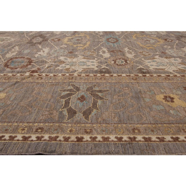 """Wool Sultanabad Rug - 10'10"""" x 14'8"""" For Sale - Image 4 of 4"""