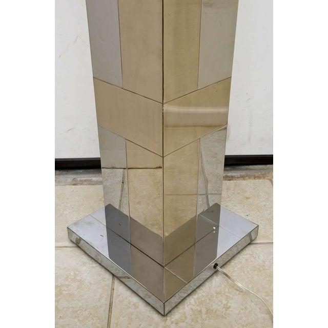"Paul Evans Dual Metal ""Cityscape"" Floor Lamp For Sale - Image 9 of 10"
