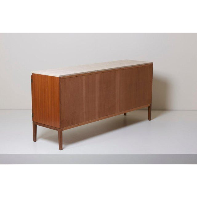 Directional Travertine Top Paul McCobb Credenza or Sideboard 7306 for Directional / Wk Möbel For Sale - Image 4 of 9