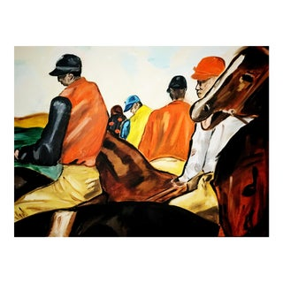 Vintage Equestrian Style Original Oil Painting