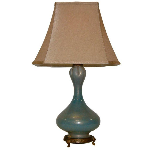 Blown Glass Seguso Murano Glass Table Lamp For Sale - Image 7 of 7