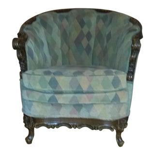 Vintage Custom Upholstered Round Chair