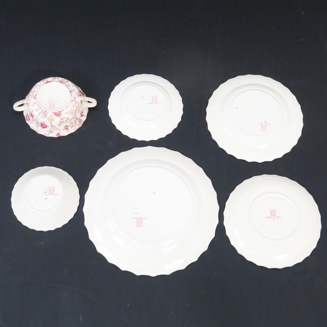 Ceramic Vintage Copeland Spode Rosebud Chintz China Dinnerware Set - 124 Piece Set For Sale - Image 7 of 13