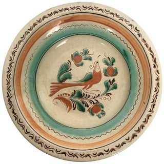 19th Century Brown and Mint Creamware Terracotta Baroque Plate For Sale