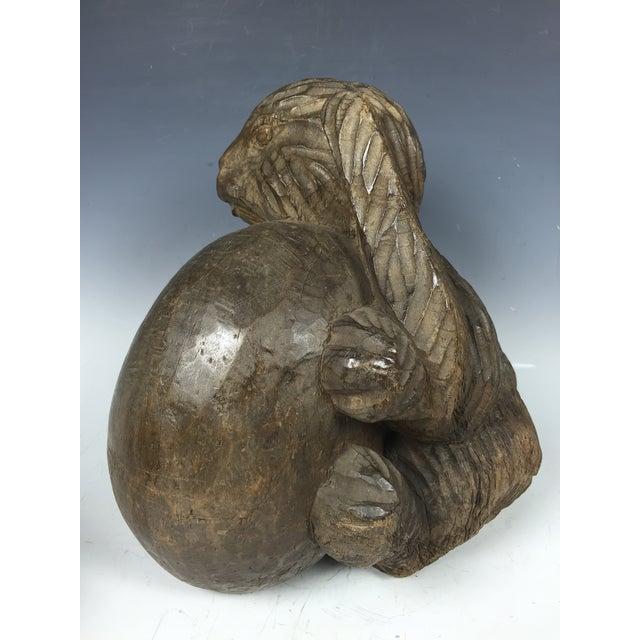 Cottage Vintage Carved Wood Paper Mache Rabbit Mold For Sale - Image 3 of 6