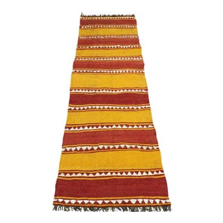Anatolian Kilim Tribal Turkish Runner-2′6″ × 8′ For Sale