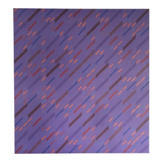 Vintage Abstract Modernist Pattern Painting by Gloria Klein. For Sale