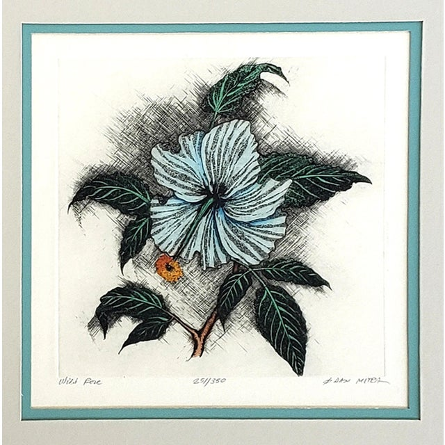 "Offered for sale is a Vintage ""Wild Rose"" Etching by Dan Mitra. Coming to the US from Romania, Mitra worked as a graphic..."