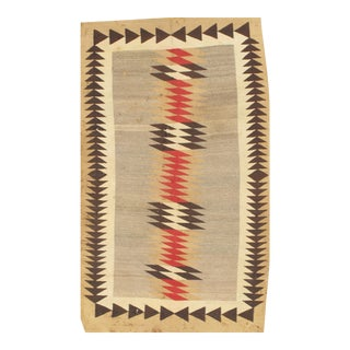 Pasargad Ny Antique Navajo Style Reversible Flatweave Rug - 3′7″ × 6′ For Sale