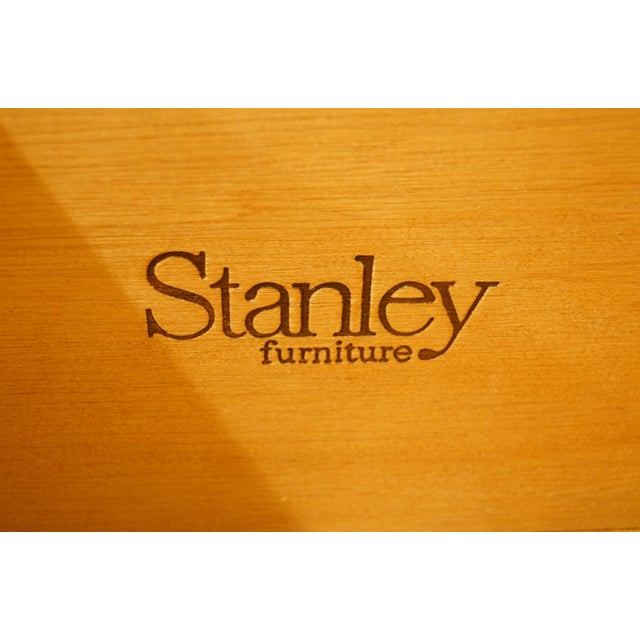 20th Century French Provincial Stanley Furniture Cream Painted Triple Door Dresser For Sale - Image 9 of 12