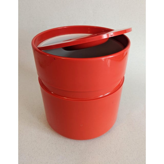 Mid-Century Modern Vintage Orange Heller Ice Bucket by Sergio Asti For Sale - Image 3 of 9