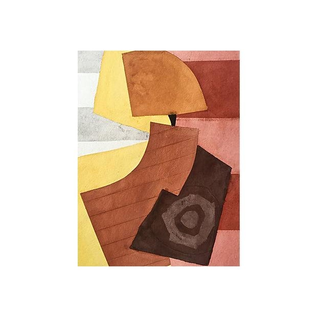 Mid-Century Modern Watercolor Abstract by Roger Stokes For Sale - Image 3 of 5