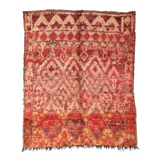 Vintage Moroccan Boujad Rug - 7′ × 7′7″ For Sale