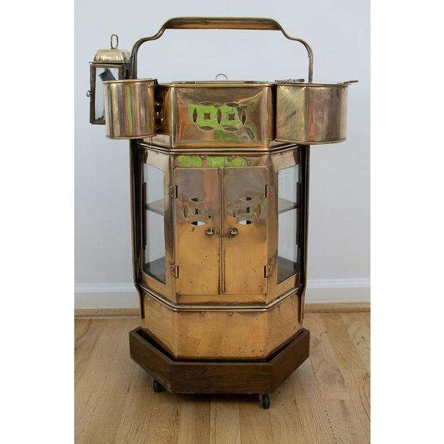 Mid-Century Brass Asian Noodle Cart For Sale - Image 12 of 12