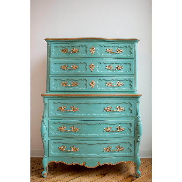 French Blue Thomasville Dresser - Image 3 of 6