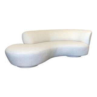 Vladimir Kagan Cloud Sofa in Heavy Boucle For Sale
