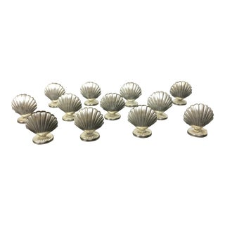 Silver Shell Place Card Holders - Set of 12 For Sale